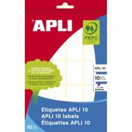 APLI 1644. Etiquetas adhesivas blancas escritura manual (22 X 32 mm.)