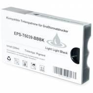 Iberjet EPS-T6039-BBBK Cartucho de tinta gris foto, reemplaza a Epson C13T603900