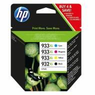 HP 932XL + HP 933XL - Cartucho Inyección Nº 932XL+933XL Negro/Amarillo/Cyan/Magenta (Pack 4) - C2P42AE