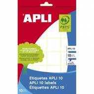 APLI 1645. Etiquetas adhesivas blancas escritura manual (24 X 24 mm.)