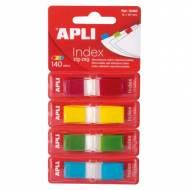 APLI 12483. Indices adhesivos ZigZag colores surtidos (45 x 12)