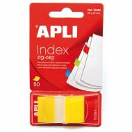 APLI 12484. Indices adhesivos ZigZag color amarillo (45 x 25)