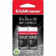 ErichKrause 43924. Blister 2 gomas de borrar ERICHKRAUSE MEGAPOLIS.