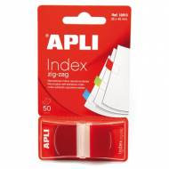 APLI 12613. Indices adhesivos ZigZag color rojo (45 x 25)