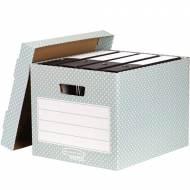 Fellowes 4481301. Pack 4 contenedores de archivo verde/blanco