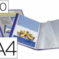 Liderpapel 23043. Carpeta 40 fundas de polipropileno A4 azul