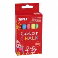 APLI 14574. 10 tizas redondas de colores (ø 9 x 80 ml.)