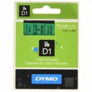 DYMO Cinta D1 (12 mm x 7 m) Negro sobre verde - S0720590