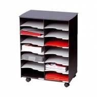 PAPERFLOW DC14N.01 Mueble móvil de 14 compartimentos (69,9 x 54,2 x 33,2 cm). Color negro