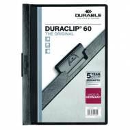DURABLE 220901. Dossiers con clip Duraclip 60 A4. Capacidad 60 hojas Negro