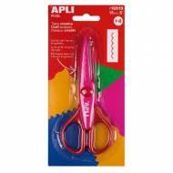 APLI 12819. Tijeras creativas corte dentado, color rosa (13 mm.)