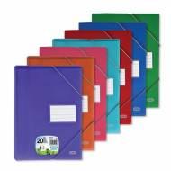 ELBA Carpetas fundas 20 fundas A4 Colores surtidos Polipropileno y cartón 400023697
