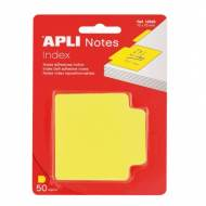APLI 12628. Notas adhesivas índice color amarillo (70 x 70)