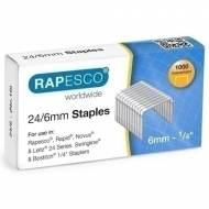 RAPESCO S24607Z3 Grapas galvanizadas 24/6 mm - Caja 1.000 unidades
