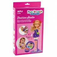 APLI 14498. Fun Dough Kit muñeca rubia plastilina mágica