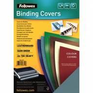 Fellowes 5371503. Pack de 100 portadas Delta Cuero verde oscuro A4 250 gr.