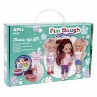 APLI 14499. Fun Dough Kit muñecas pequeñas plastilina mágica