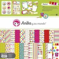 GRAFOPLAS 37010613. Kit bolsa Scrapbooking colección Fiesta de Anita y su mundo