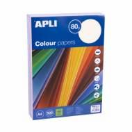 APLI 15285. Papel de 80 gr. A4 colores surtidos pastel  (500 hojas)