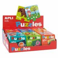 APLI 13334. Expositor 6 puzles educativos rojo