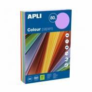 APLI 15286. Papel de 80 gr. A4 colores surtidos intenso  (500 hojas)