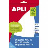 APLI 1658. Etiquetas adhesivas blancas escritura manual (50 X 149 mm.)