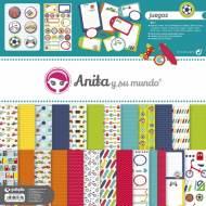 GRAFOPLAS 37010615. Kit bolsa Scrapbooking colección Juegos de Anita y su mundo