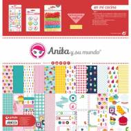 GRAFOPLAS 37080600. Kit bolsa Scrapbooking colección En mi cocina de Anita y su mundo