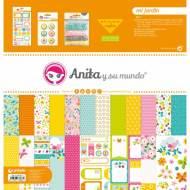 GRAFOPLAS 37080601. Kit bolsa Scrapbooking colección Mi jardín de Anita y su mundo
