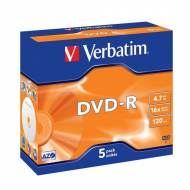 VERBATIM Pack 5 DVD-R 16x Advanced AZO 4,7GB - 43519