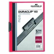 DURABLE 220903. Dossiers con clip Duraclip 60 A4. Capacidad 60 hojas Rojo