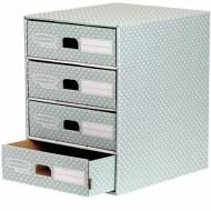Fellowes 4481701. Módulo 4 cajones archivador verde/blanco