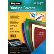 Fellowes 5378203. Pack de 100 portadas Chromolux azul A4 250 gr.