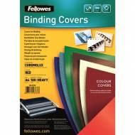 Fellowes 5378303. Pack de 100 portadas Chromolux rojo A4 250 gr.