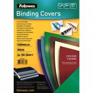 Fellowes 5378403. Pack de 100 portadas Chromolux verde A4 250 gr.