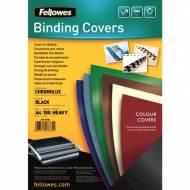 Fellowes 5378504. Pack de 100 portadas Chromolux negras A4 250 gr.