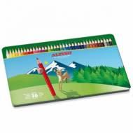 ALPINO AL010760. 36 lápices de colores en caja de metal