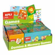 APLI 13857. Expositor 4 puzles educativos Dominó & Memory