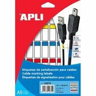 APLI 12875. Etiquetas de señalización para cables  (19,1 x 48,8 mm.)