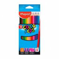 MAPED 183212 Estuche de 12 lápices de colores surtidos