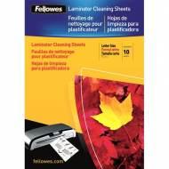 Fellowes 5320604. Pack 10 Hojas de Limpieza y Transportador A4