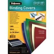 Fellowes 5381302. Pack de 100 portadas Linen blancas A4 250 gr.