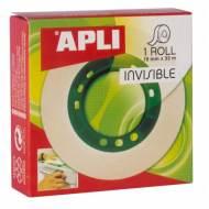 APLI 11036. Cinta adhesiva invisible en caja (19 mm x 33 m)