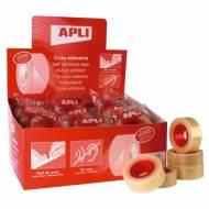 APLI 11103. 35 rollos cinta adhesiva transparente (19 mm x 33 m)