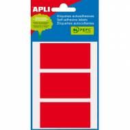 APLI 02073. Etiquetas adhesivas rojas (34 x 67 mm.)