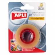APLI 11166. 10 rollos cinta adhesiva transparente en blister (19 mm x 33 m)