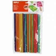 APLI 13482. Palos de madera redondos de colores surtidos (25 und.)