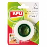 APLI 11168. 10 rollos cinta adhesiva invisible en blister (19 mm x 33 m)