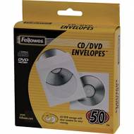 Fellowes 90690. Pack de 50 sobres papel CDS blancos