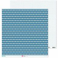 GRAFOPLAS 37019700. Papeles scrapbooking (Flor blanca) colección Mosaico